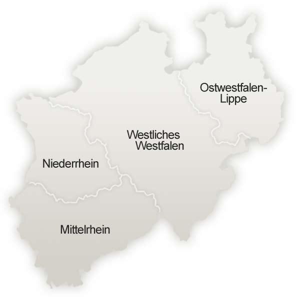 Landkarte NRW